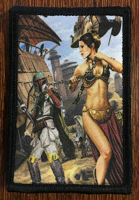Star Wars Princess Leia Boba Fett Slave Morale Patch Tactical Military Army