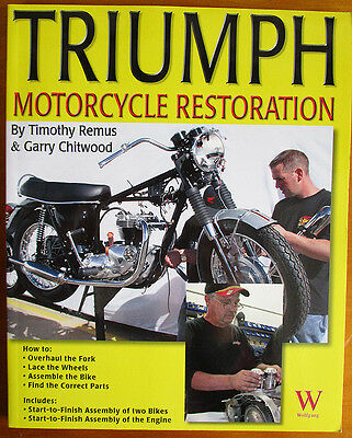 Triumph Unit Twin Motorcycle Restoration Book Manual Lucas Amal 650 Bonneville