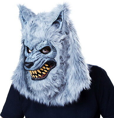 Beastly Blood Moon Ani-Motion Werewolf Face Mask Halloween Costume Accessory Men