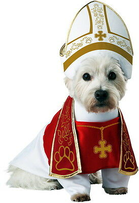 Holy Hound Bishop Pup-A-Razzi Dog Pope Miter Stole Robe Religious Costume Pet M