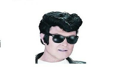 Greaser Grease Wig Danny Zuko Fancy Dress Accessory Black Wig / Elvis 1950 1960,