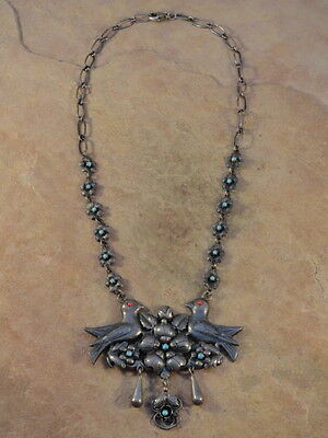 Beautiful Vintage Mexican Sterling Silver Necklace 1 oz.