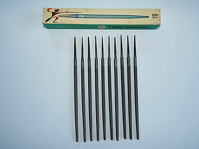 ROUND RUSSIAN FILES -  200mm -  BASTARD CUT  - 10 Pieces - NEW