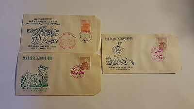 Three 1960 Taiwan Provincial Jamboree Boy Scout Covers