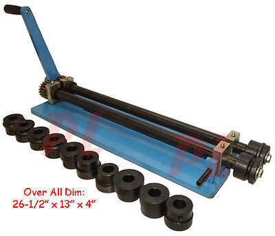 Bead ROTARY MACHINE Roll Roller Wire Crimping Ogee Metal Fabrication 6 Dies Set