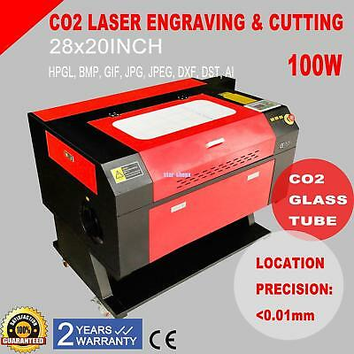 100W CO2 Laser Tube Cutter Engraver Engraving Machine With Cylinder Rotary Axis