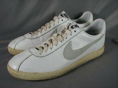 Vintage Nike Bruin Shoes 1981 White Leather Lo Tops Men's Size 13 Nice