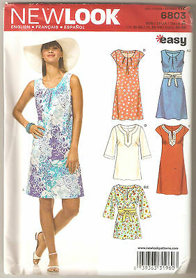 New Look Sewing Pattern 6803 Miss Easy A-Line Dress and Tunic Top Sz 10-22