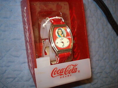 "Coca Cola ""Coke Girl"" Photo Watch VF-NM In Box."