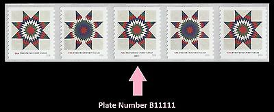 US 5098-5099 Star Quilts Presorted First-Class PNC5 MNH 2016