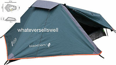 COMPACT LIGHTWEIGHT 1 PERSON PYRAMID TENT military BLACKTHORN cycle biker hiker