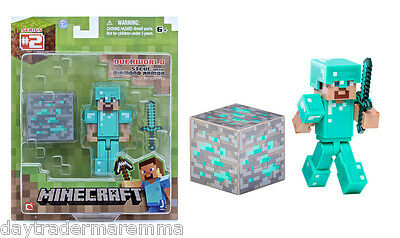 **Special**MINECRAFT - Diamond Steve with Accessories #Item 16504