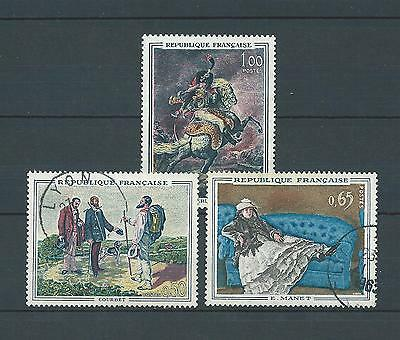 TABLEAUX d' ART - 1962 YT 1363 à 1365 - TIMBRES OBL. / USED