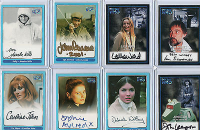 Dr Doctor Who Autograph Costume Card And Printing Plate Selection NM Topps