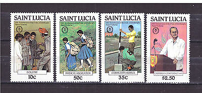 FRANCOBOLLI Saint Lucia 1981 Duke of Edinburgh's Award Scheme MNH** YV540-43