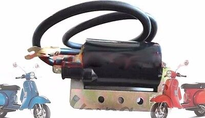 VESPA BLACK HT IGNITION COIL PX LML STAR STELLA SCOOTERS @AEs