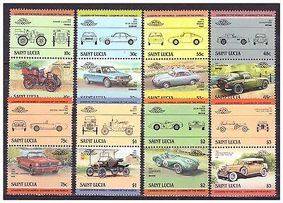 FRANCOBOLLI Saint Lucia 1984 Automobili Leaders of The World  YV644-51
