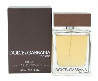 Dolce & Gabbana The One Eau De Toilette 50Ml Spray - Men's For Him. New