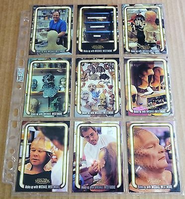 Star Trek Voyager Trading Cards; Set Of 9 Michael Westmore Make Up Chase Cards