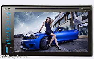 6.2'' Bluetooth GPS HD Touchscreen 2 DIN Auto Stereo DVD Player FM/AM/USB/SD/AUX