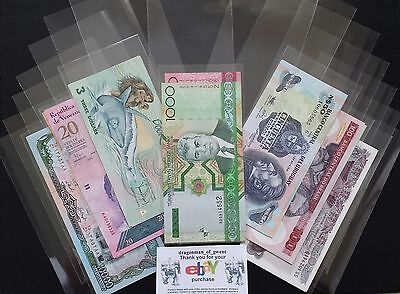 25 New SLEEVES High Quality Acid-Free Banknote Sleeves. 85mm x 175mm..