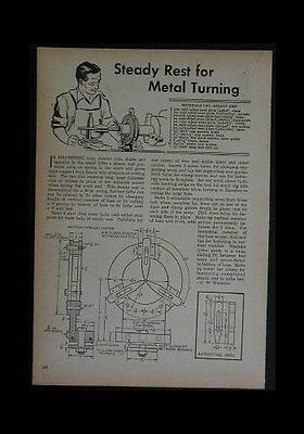 STEADY REST for Metal Lathe HowTo build PLANS No Casting