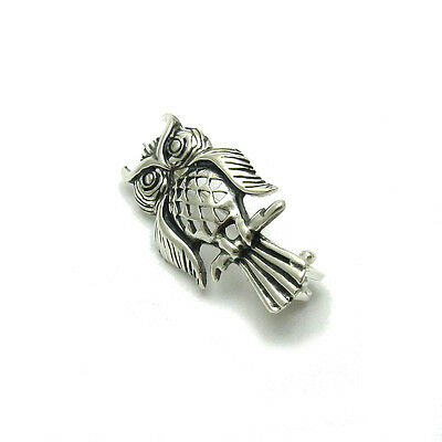 Sterling Silver Brooch Owl Solid 925  A000091 Empress