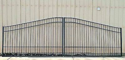 Residential & Commercial Aluminum Driveway Entry Gate 20 Ft Wide DS Incl Post PK