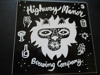 HIGHWAY MANOR BREWING Camp Hill Pennsylvania STICKER decal craft beer brewery