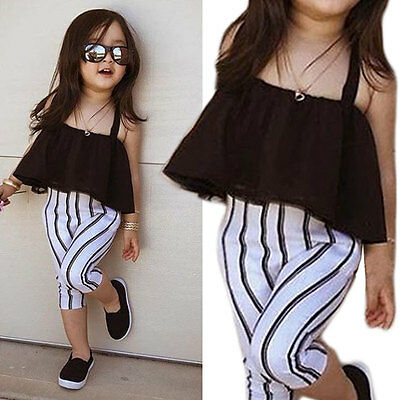 Toddler Kids Baby Girls Outfits Clothes T-shirt Tops Tutu Dress Skirt One Piece