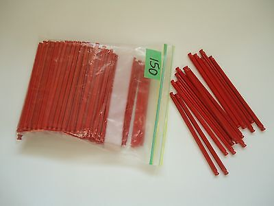 Knex building toy 150 red rods parts pieces 5 1/8 inches EUC replacements