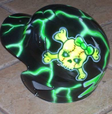 Fastpitch Softball Airbrushed Helmet New Skull W/ Name