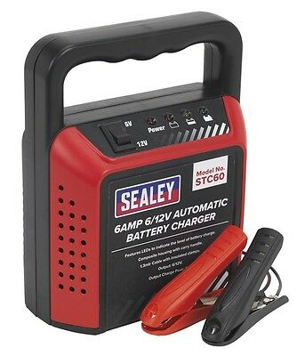 Genuine SEALEY STC60 | Battery Charger 6/12V 6Amp 230V Automatic