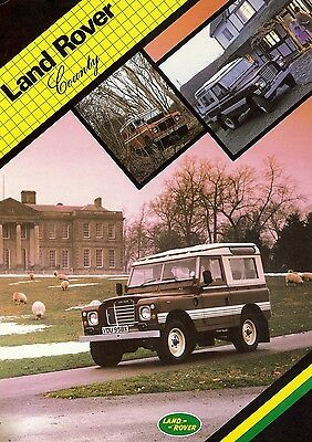 """1985 ? - LAND ROVER (Defender) """"County"""" 2.3 - French sales brochure, prospekte"""