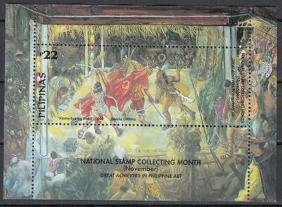 Philippinen Block 171 mit Falz Nationaler Monat des Briefmarkensammelns