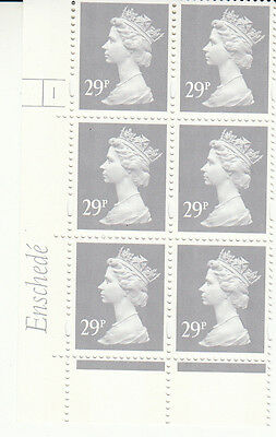 ENSCHEDE 29p RE2 CYLINDER 1 NO DOT YELL/FLR MNH