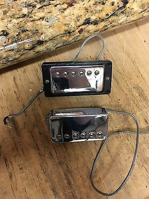 Vintage 60s Gibson Patent Number Pickups, 2 with Surrounds.  ( from 66 sg)