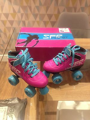 SFR RS140 Girls Children Roller Skates Size UK1 - Superb Condition!