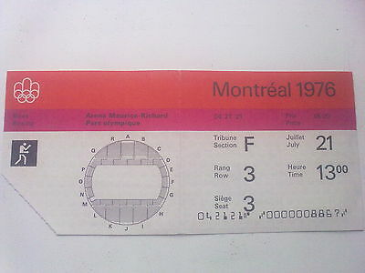 Ticket Olympic Games MONTREAL 21.07.1976 - BOXING (13:00)