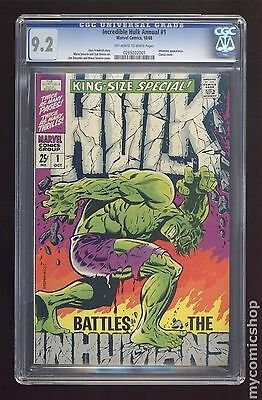 Incredible Hulk (1962-1999 1st Series) Annual #1 CGC 9.2 (0269202001)