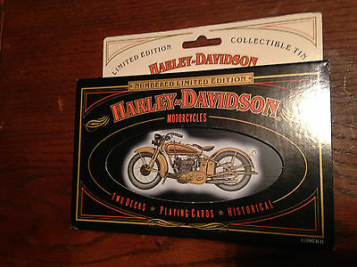 Harley Davidson Motor Cycles Limited Edition Playing Cards/real Pics/wrongway05