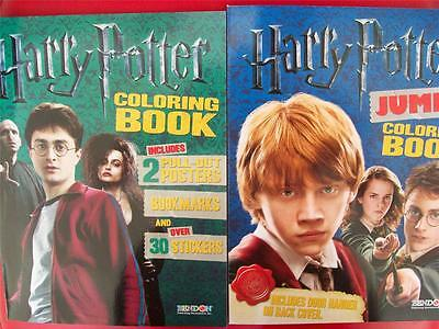 HARRY POTTER COLORING BOOKS (2) ( (Includes Posters, Bookmarks & Stickers) NEW