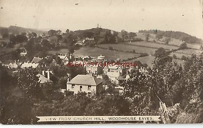Leicestershire Woodhouse Eaves Church Hill Real Photo Vintage Postcard 24.12