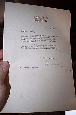 WWII letter from Norway Princess Martha's Lady in Waiting to OSS/Secret Service