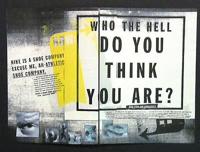 NIKE Sneakers 1996 Advertisement 8 Page Ad Who The Hell Does Nike Think They Are