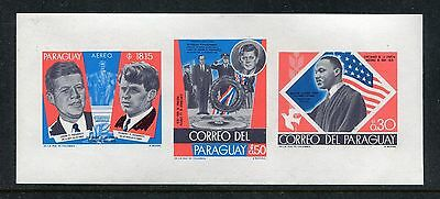 Paraguay 1132-1134, MNH, Kennedy, M.L. King s/s 1968 x18337