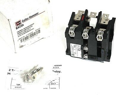 Nib Cutler Hammer Ba23A Thermal Overload Relay Style No: 6710C38G09, Size 2
