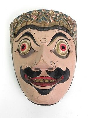 Hand Carved Resobagu Topeng Bali Mask Indonesia Wall Tribal Decor
