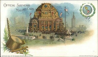 1901 Pan American Exposition Temple of Music Private Mailing Card