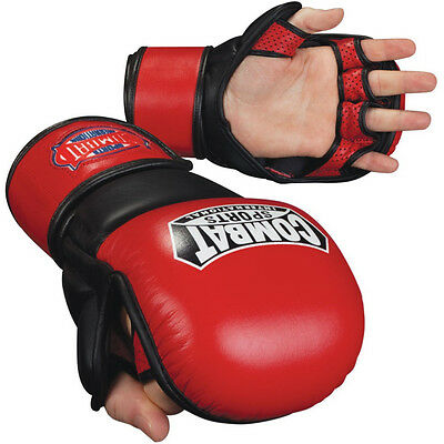 Combat Sports MMA Safety Sparring Gloves-Red-XL